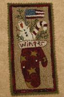 Patriotic Winter Mitten Punchneedle
