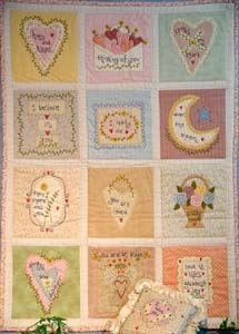 You are Loved!  Quilt and Pillow