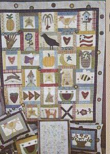 Folk Art Patches Quilt, Pillows & Stitchery