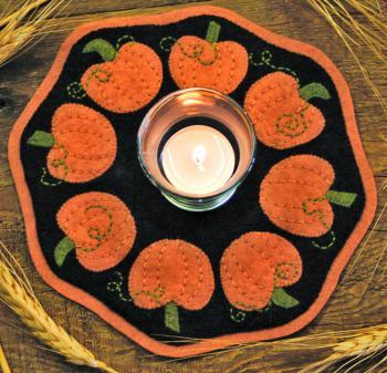 Pumpkins Candle Mat