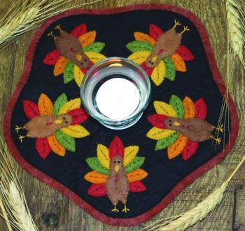 Turkey Candle Mat
