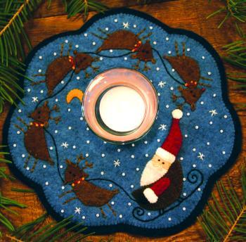 Santa & Reindeer Candle Mat