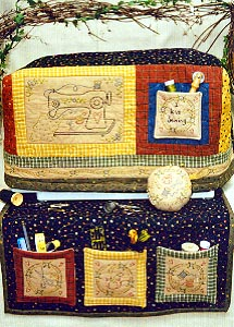 Sewing Machine Cover, Caddy & Cushion